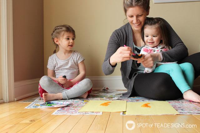 Carrot Footprint & Handprint Easter Kids Craft   spotofteadesigns.com