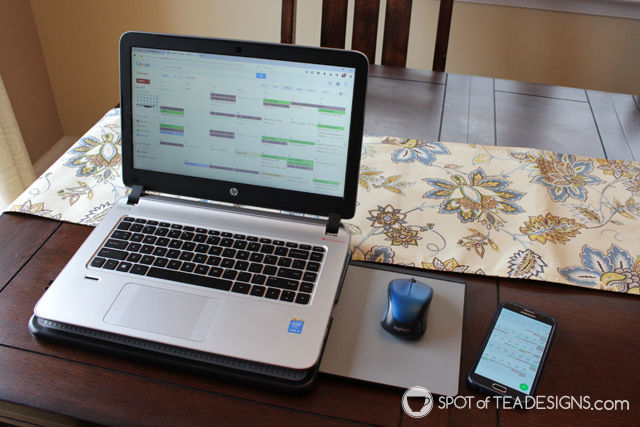 Favorite computer accessories - laptop desk with slide out mouse | spotofteadesigns.com