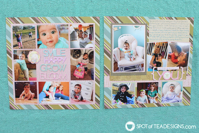 Baby's first year scrapbook | spotofteadesigns.com