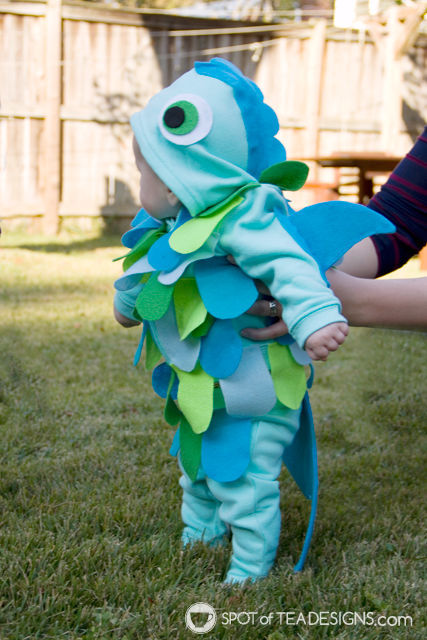 Handmade Halloween infant fish costume tutorial | spotofteadesigns.com