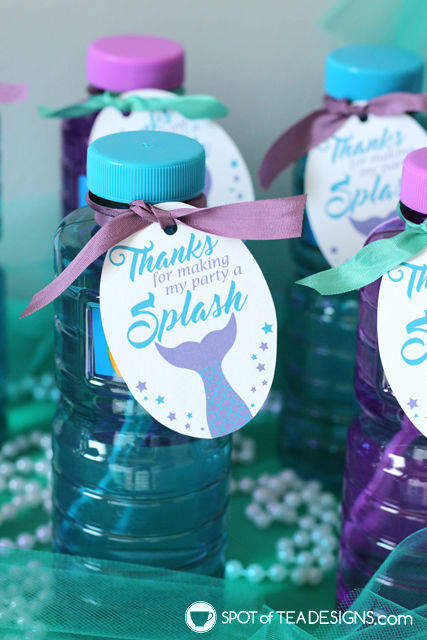 Mermaid Party Printables plus a party food hack! | spotofteadesigns.com