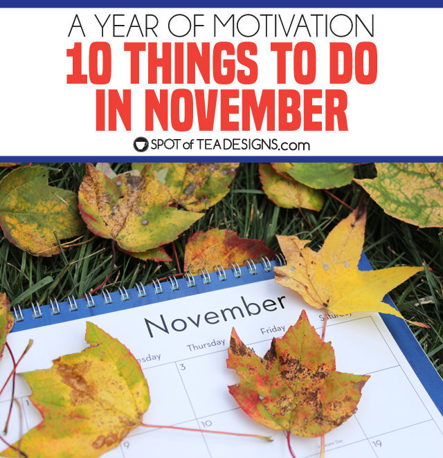 10 things to do in November to get you motivated for the upcoming season!   spotofteadesigns.com