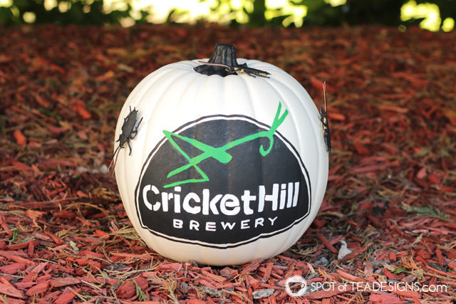 How to transfer a design on a pumpkin - step by step photos and tips to customize your pumpkin this Halloween | spotofteadesigns.com