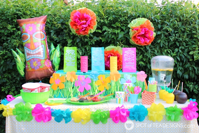 9 Summer Party Themes - Luau | spotofteadesigns.com