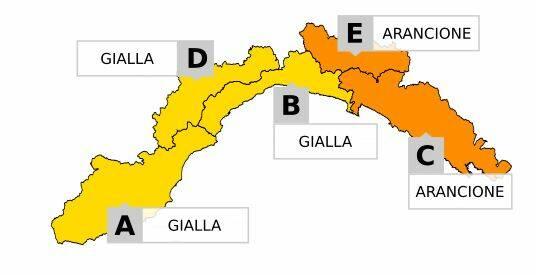 In arrivo una perturbazione sulla Liguria: allerta gialla su Savona da mezzanotte alle 18 di domani