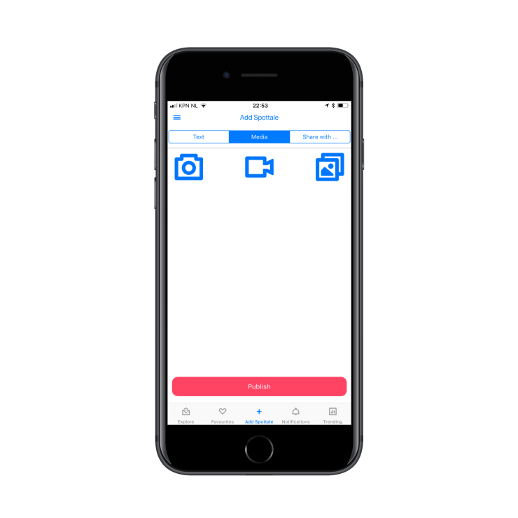 Add photos and videos or select them from a photo album