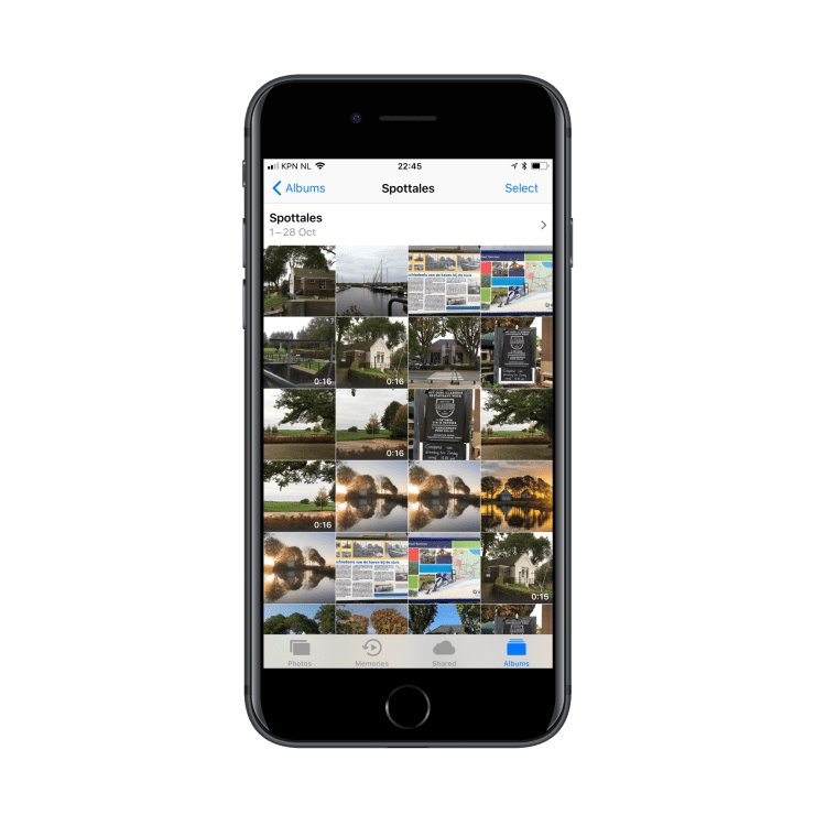 Select a photo or video from a photo album