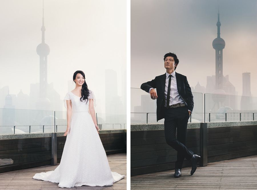 Shanghai Pre Wedding Photography On The Bund Spotted