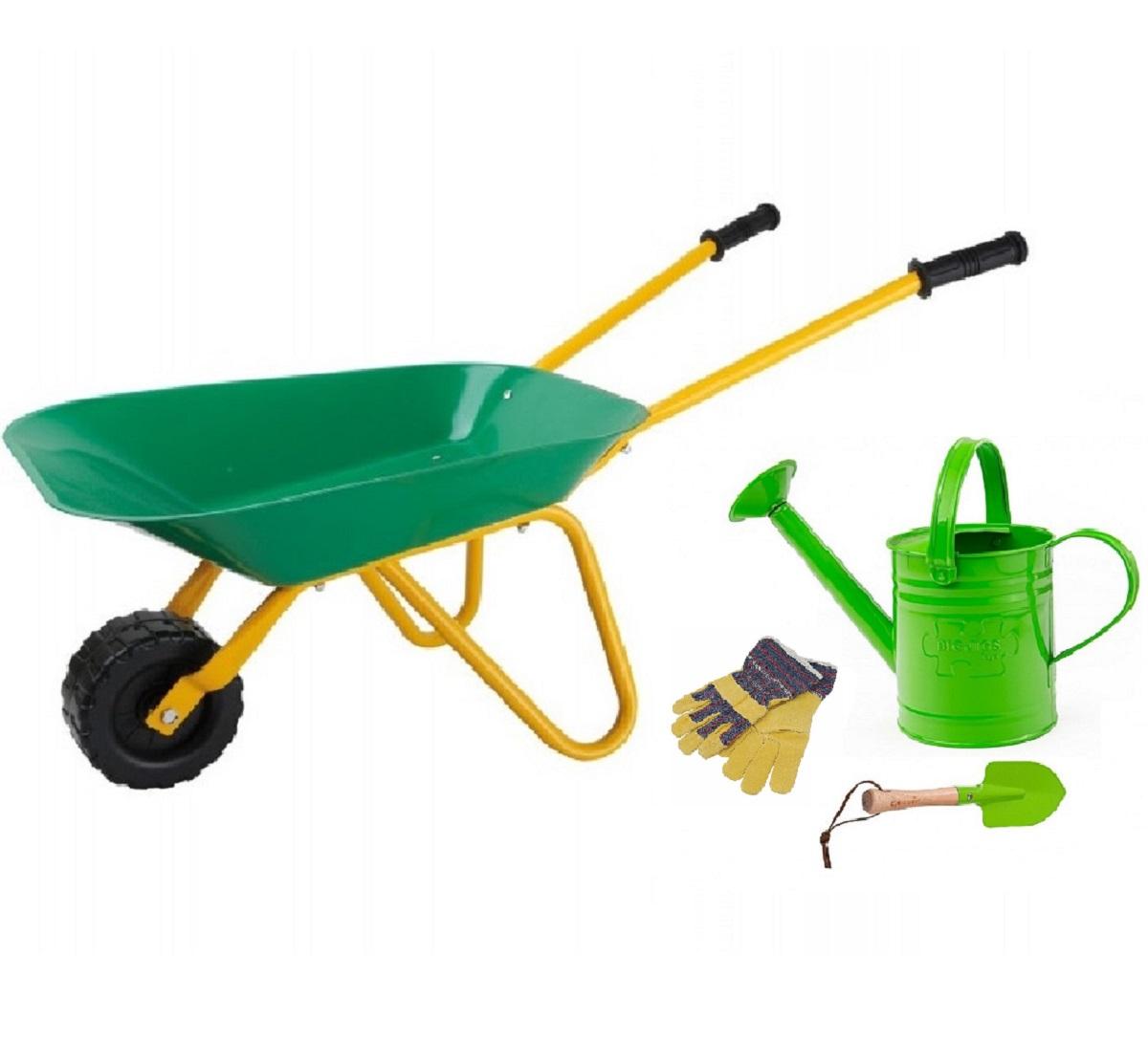 Children S Gardening Tools Watering Can Amp Wheelbarrow Set