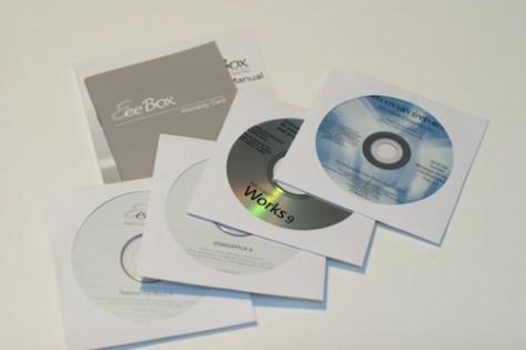 Manuals and discs