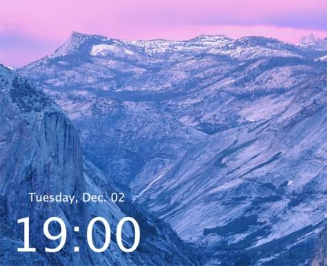 yosemite-desktop-clock