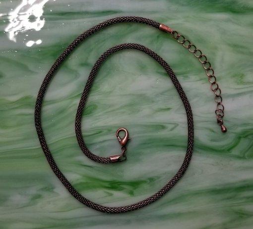 Antiqued Copper Necklace