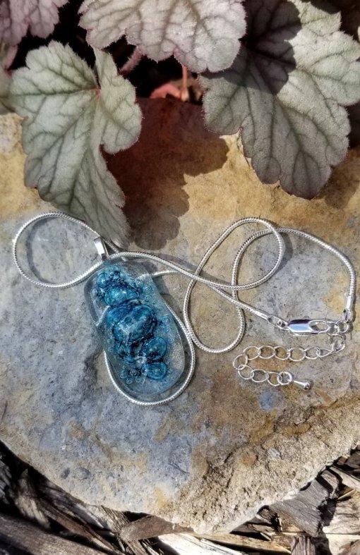 Blue Bubble Pendant