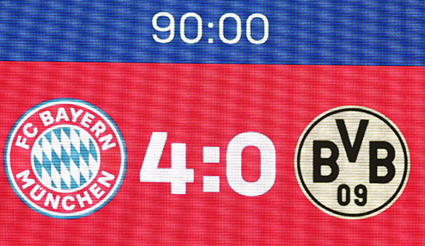 Bitter truth on the scoreboard: BVB went under at Bayern with 0: 4.