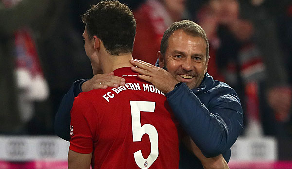 Hansi Flick celebrated two victories in a row with Bayern.