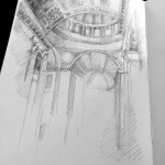 Day one: St. Peters interior drawing