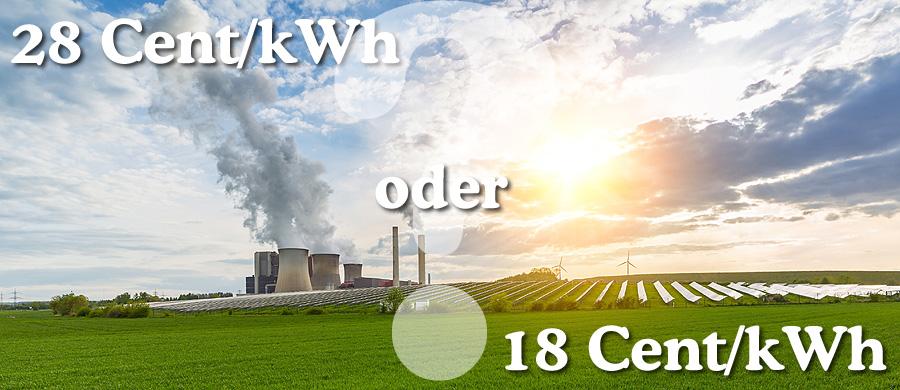 braunkohlekraftwerk - solarenergie - Windrder