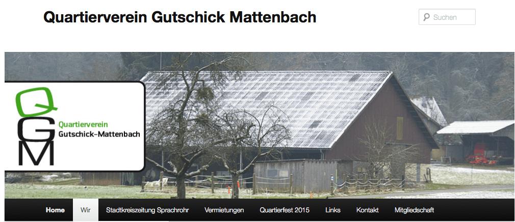 Quartierveren Gutschick Mattenbach