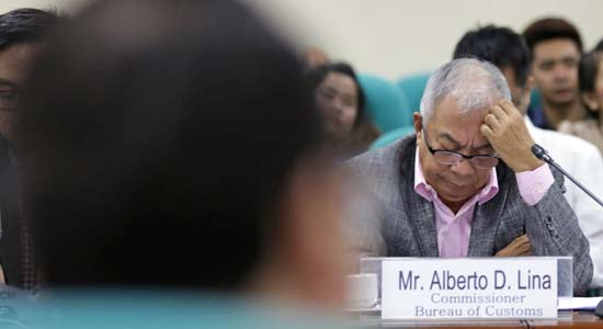 CONFLICT OF INTEREST – Customs chief Lina, other ex-BOC officials face plunder charges