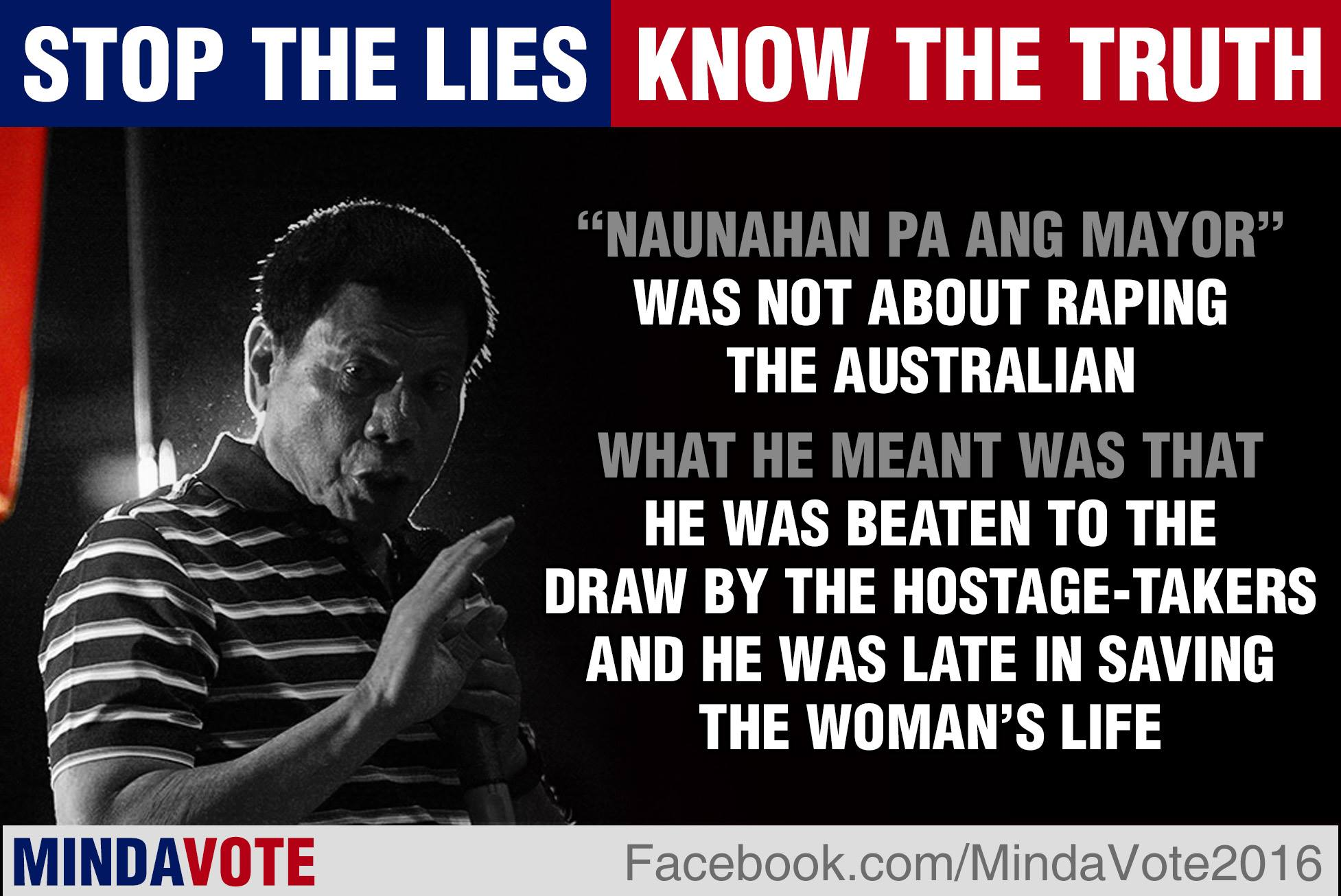 "THE TRUTH BEHIND RODRIGO DUTERTE'S ""RAPE JOKE"" – A tale of sacrifice, frustration, and duty"