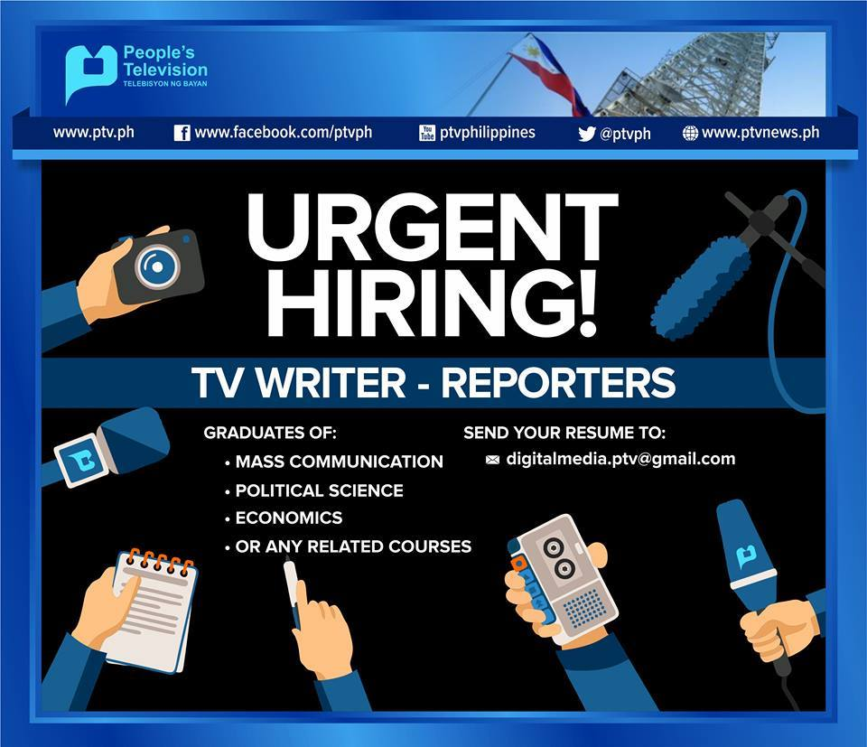PHL Government TV station looking for new reporters and writers