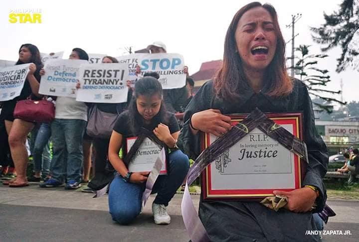 Luzon students cry about Martial Law in the south, claiming abuses while never experiencing it