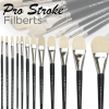 Pro-Stroke Powercryl Ultimate Acrylic Brushes, Filbert