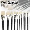 Pro-Stroke Powercryl Ultimate Acrylic Brushes, Flat