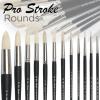 Pro-Stroke Powercryl Ultimate Acrylic Brushes, Round