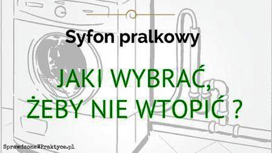 Syfon pralkowy