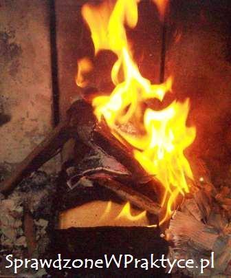 Brykiet brik rozpalany drewnem