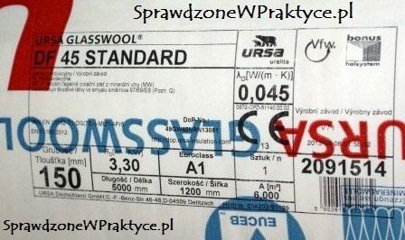Etykieta wełny URSA