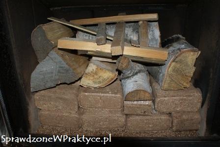Drewno i brykiet w kominku