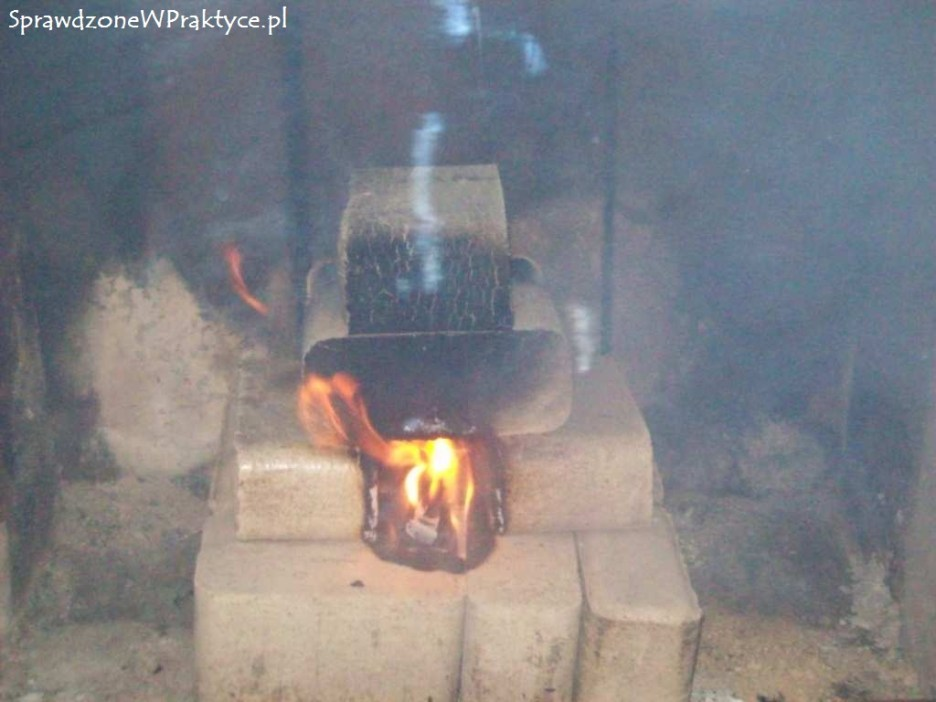 dym podczas rozpalania