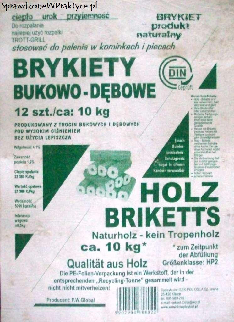 Brykiet PiniKay firmy SEK-POL