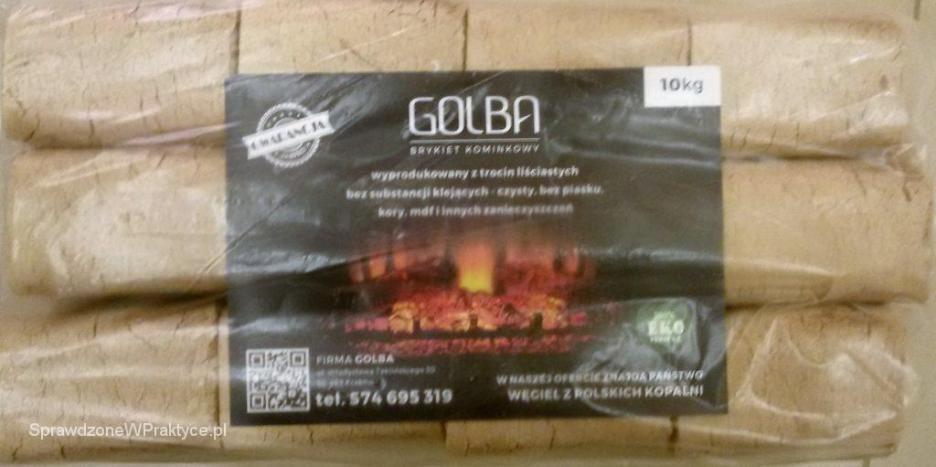 Opakowanie brykietu RUF z firmy GOLBA