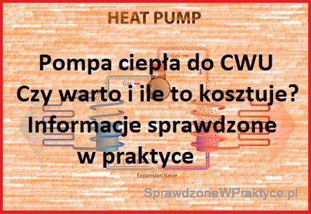 Pompa ciepła do cwu w praktyce