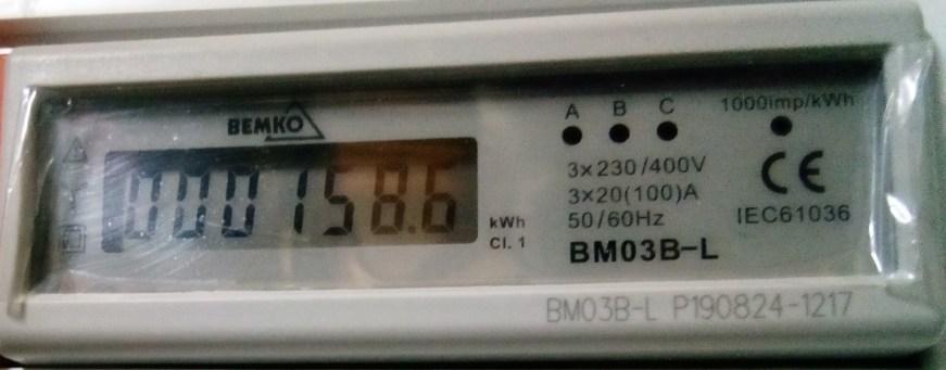 Licznik energii elektrycznej - ogrzewanie - 04.10.2020