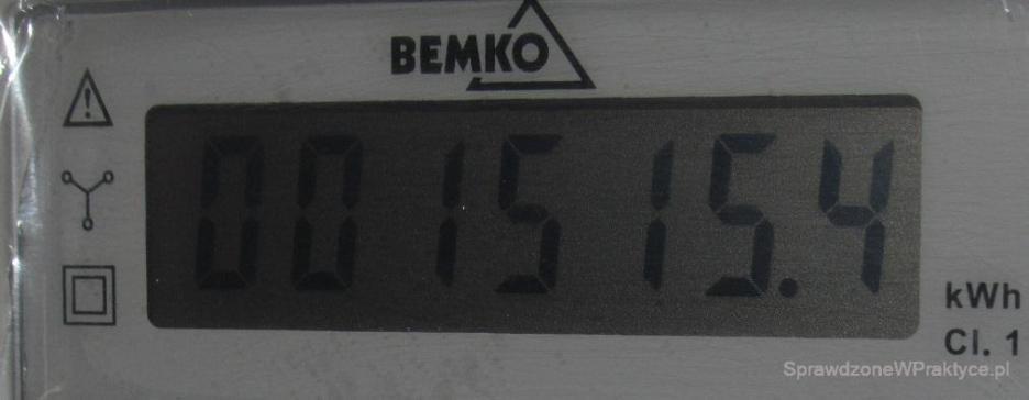 Licznik energii wykorzystanej do ogrzewania domu 29.11.2020