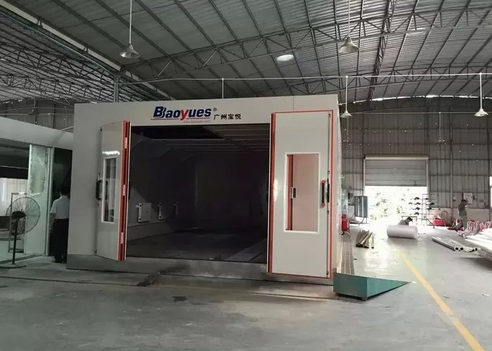 led light infrared spray booth outside paint booth 8m length 4 5 m width