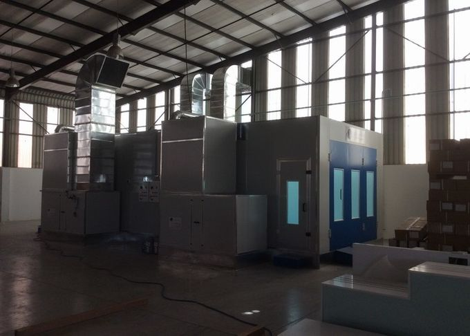 exhaust spray bake paint booth water curtain with explosion proof lights
