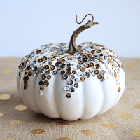 DIY: Sequined Pumpkin