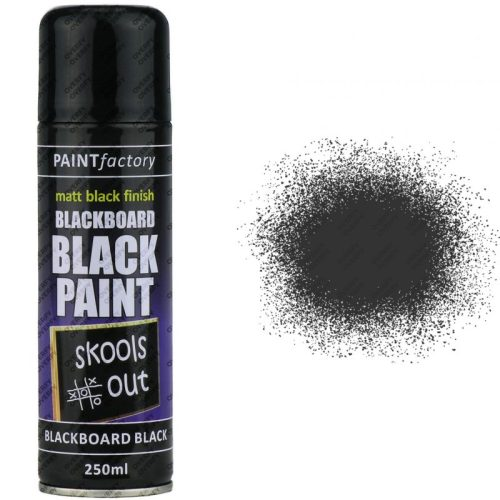 Black Chalkboard Spray Paint Matt 250ml