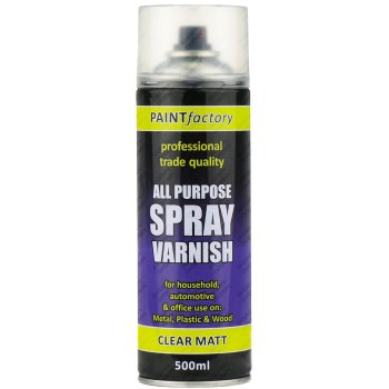 Clear Varnish Spray Paint Matt All Purpose 400ml