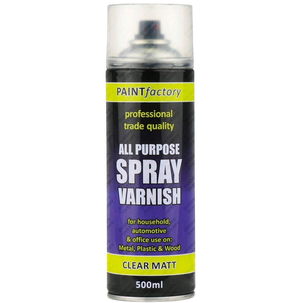 Clear Varnish Spray Paint Matt All Purpose 400ml