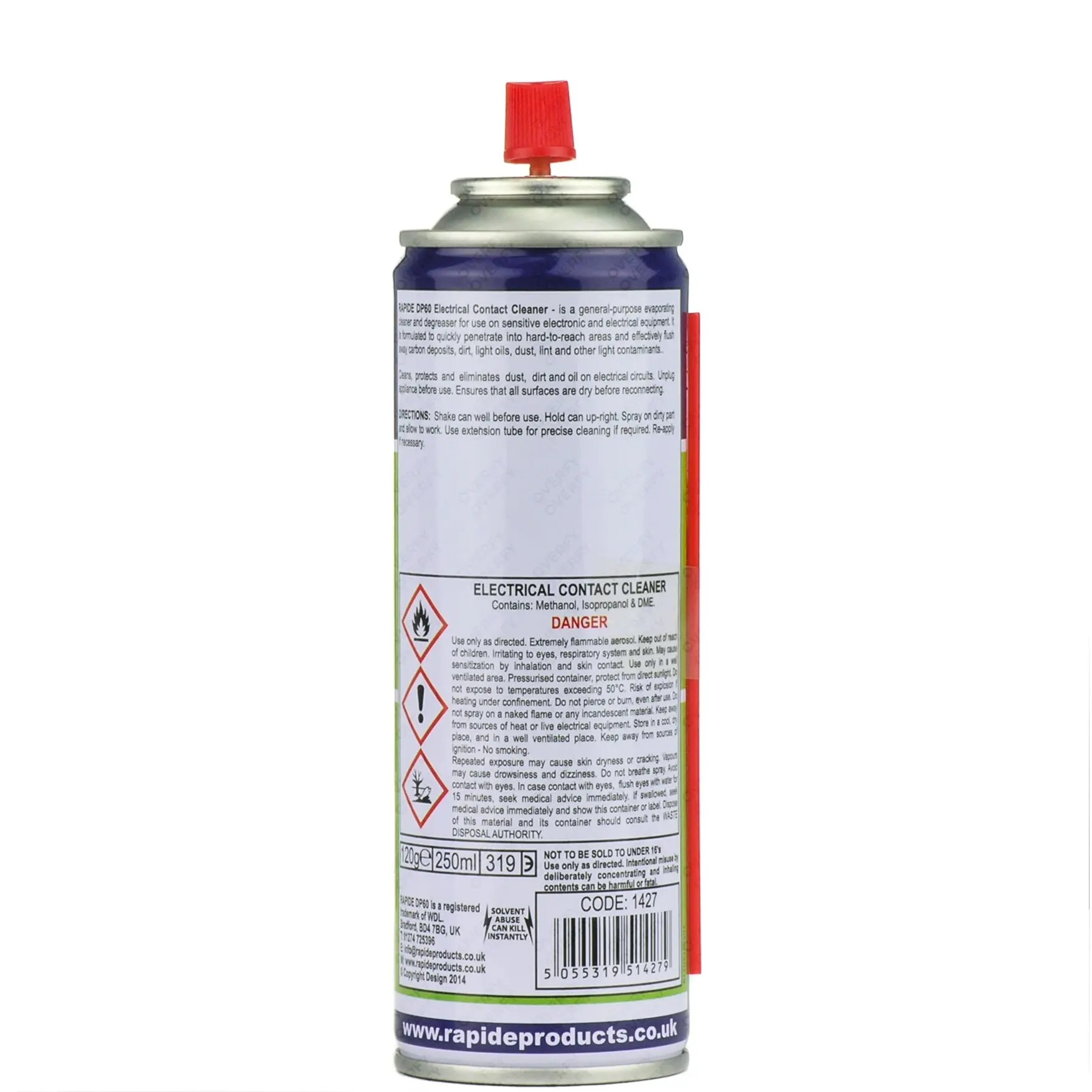 200ml Electrical Contact Cleaner Dirt Remover Sprayster Aerosol And Circuit Board