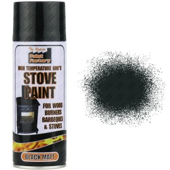 Matt Black Heat Resistant Spray Paint 400ml