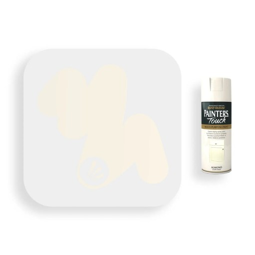 Rust-Oleum-Almond-White-Gloss-Spray-Paint-400ml-Painters-Touch-Swatch