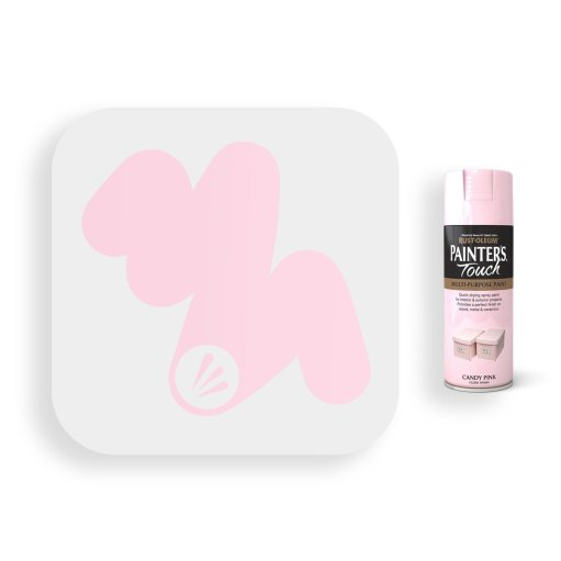 Rust-Oleum-Candy-Pink-Gloss-Spray-Paint-400ml-Painters-Touch-Swatch