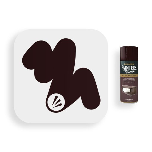 Rust-Oleum-Chestnut-Brown-Gloss-Spray-Paint-400ml-Painters-Touch-Swatch